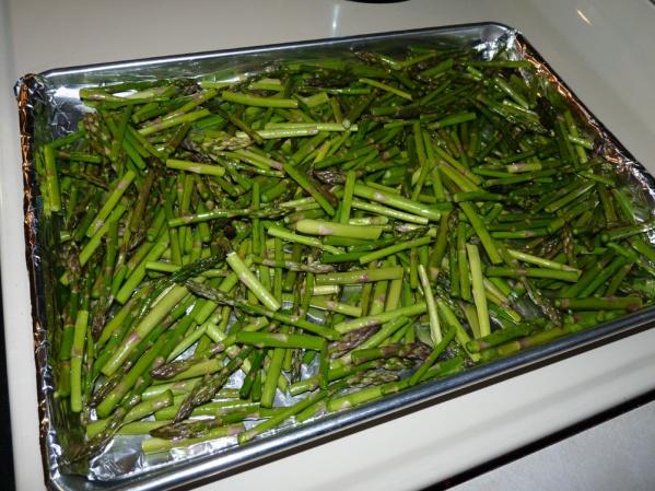Cleaned asparagus