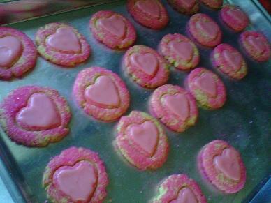 Cornmeal Valentine Cookie