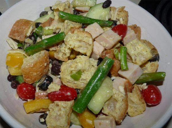 Curried Panzanella Salad