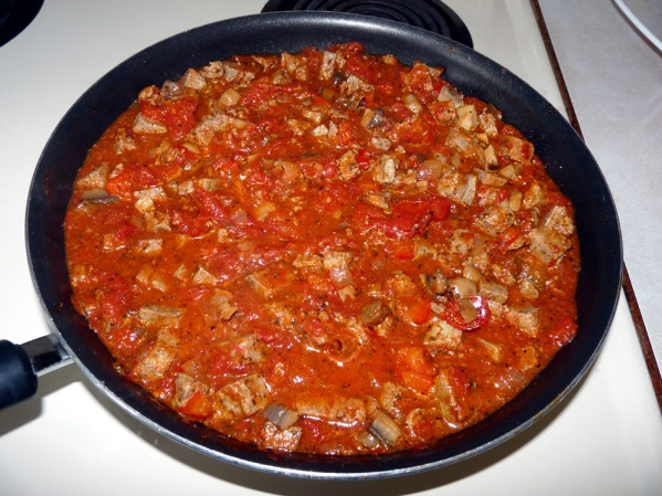 Bubbling sauce