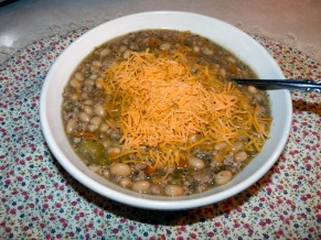 White Chili with Cheddar