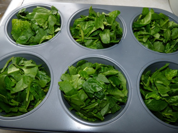 Add the spinach layer