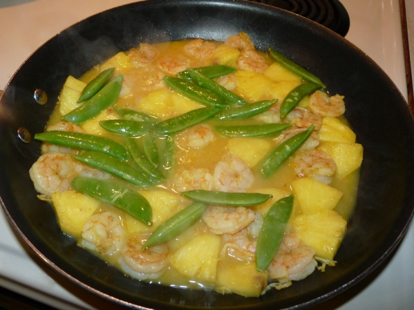 Add the snow peas