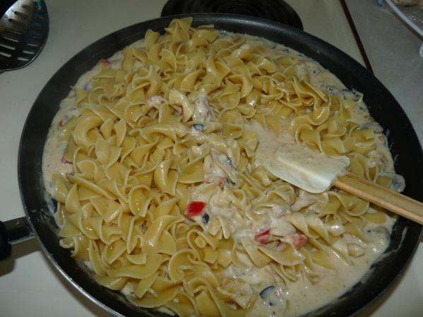 Add al dente noodles