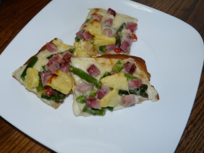Ham and Asparagus Pizza