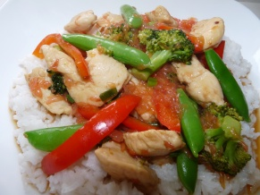 Chicken Grapefruit Stir-fry