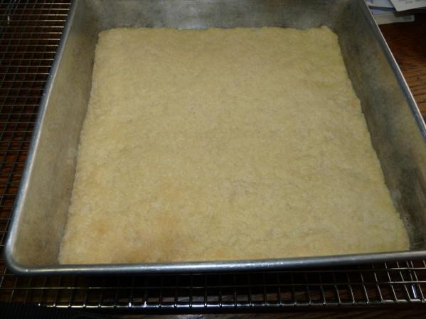Bake crust until lightly brown