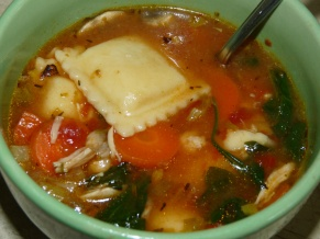 Mushroom Ravioli Spinach Soup