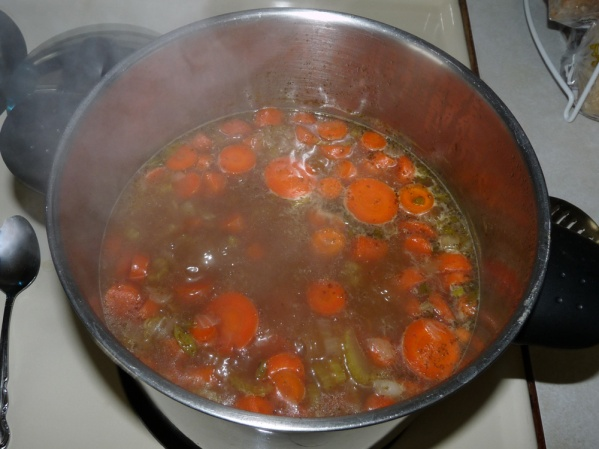 Add the carrots, bring to a boil, reduce to medium