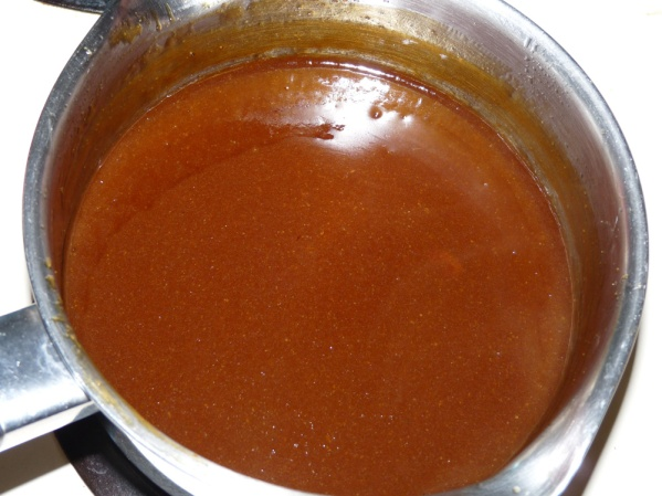 Reduce and thicken the sauce