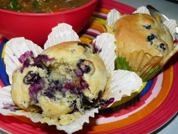 Blueberry Lemon Lime Cornmeal Muffins