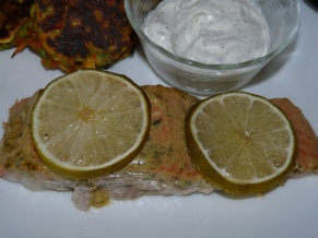 Lady Melady's Garlic Dijon Salmon