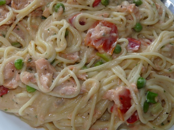Pasta Alfredo with Salmon