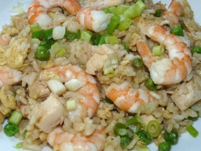 Chicken and Shrimp Fried Rice