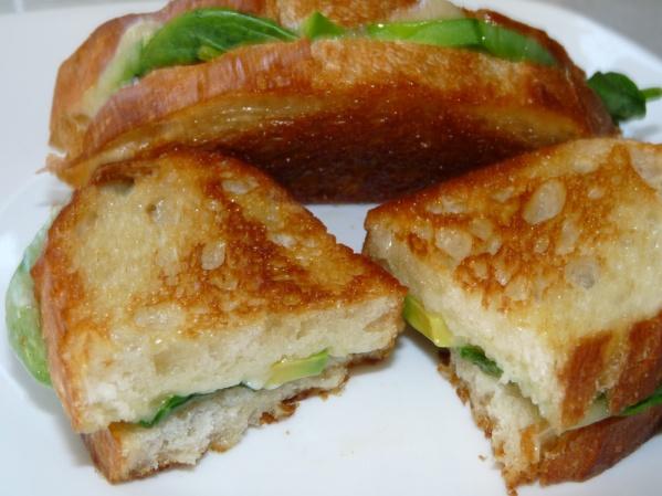 Grilled Havarti, Spinach, Avocado Sandwich