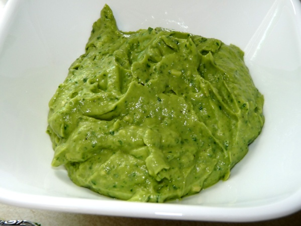 Creamy avocado mixture
