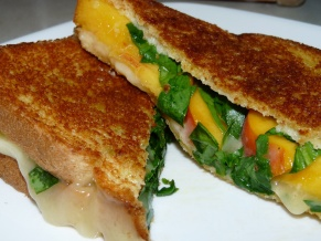 Grilled Havarti Peach Spinach