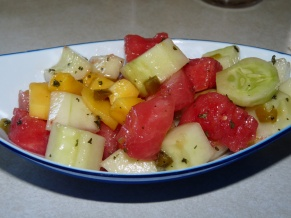 Mango Watermelon Cucumber Salad