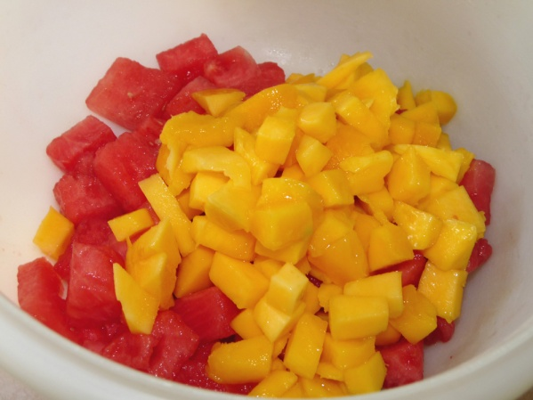 Watermelon and mango