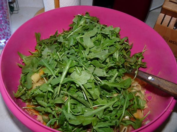 Stir in arugula