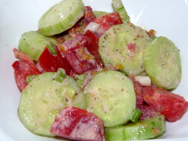 Add more tomato and some sliced cucumber and it's great the second night!