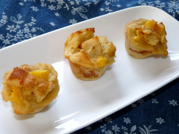 Mango Bread Pudding Mini Muffins