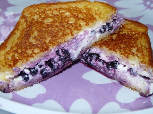 Grilled Blueberry Cream Cheese Sandwiches