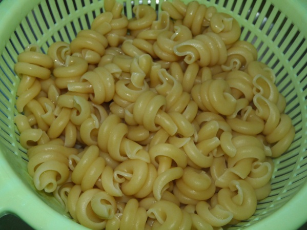Cook pasta just until al dente
