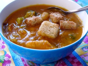 Carrot Broccoli White Bean Soup