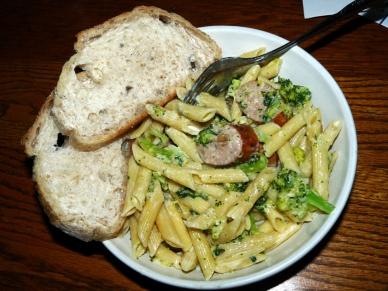 Broccoli Sausage Penne Alfredo
