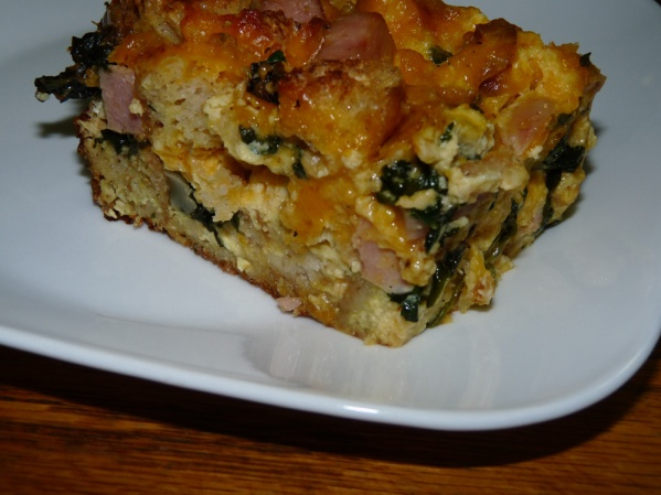 Spam Spinach Strata