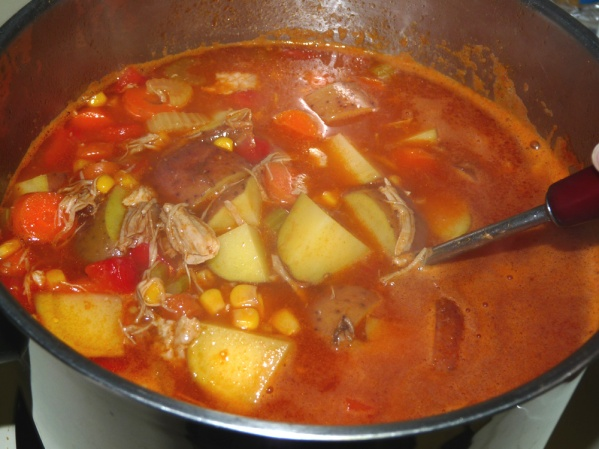 Stir in seasonings and simmer