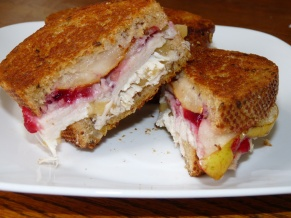 Turkey Pear Sandwiches with Cranberries