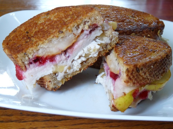 Turkey Pear Sandwich with Cranberries