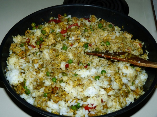Stir rice in until all is blended