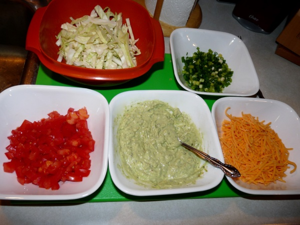 Taco bar ingredients