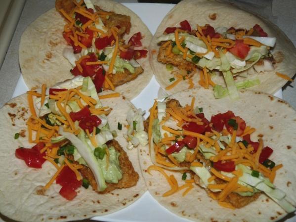 Assemble fish tacos