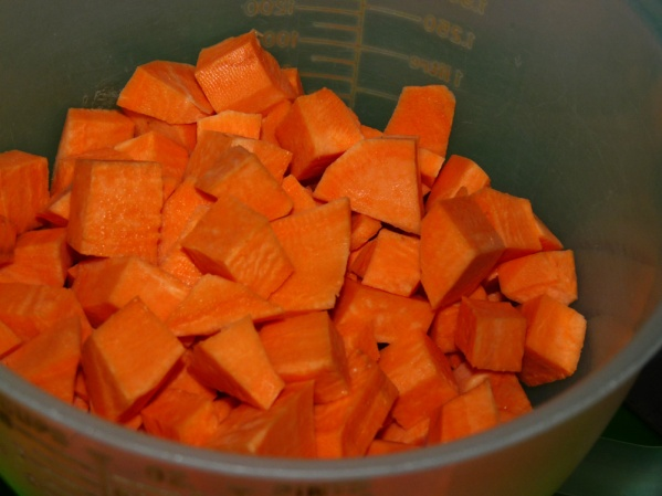 Peeled and chopped sweet potato