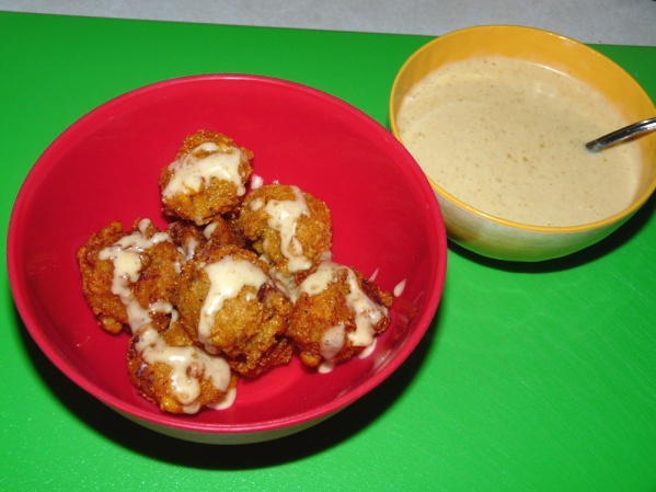 Serve with honey mustard dipping sauce