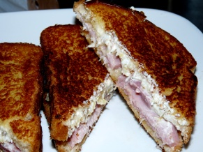 Ham Pineapple Goat Cheese Grill-wich