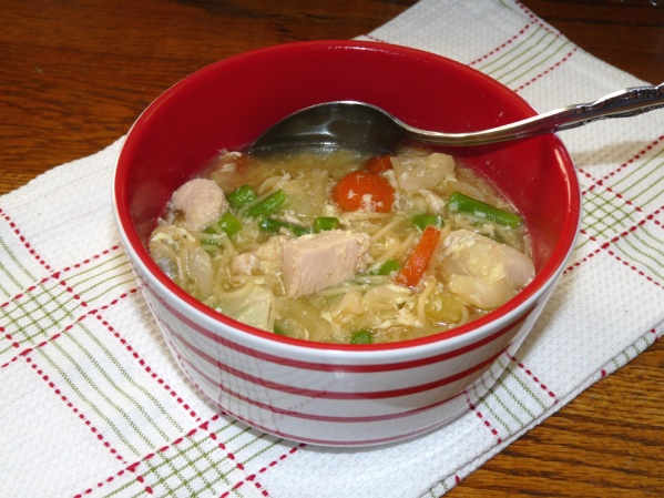 Chicken Noodle Soup with Asparagus
