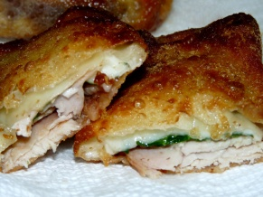 Turkey Provolone Egg Rolls