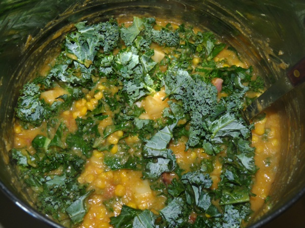 Stir in kale