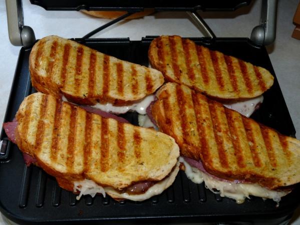 Corned beef paninis