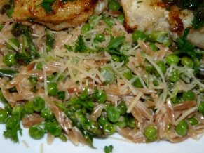 Orzo with Asparagus and Peas