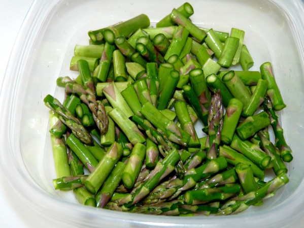 "Cut the asparagus into 1"" pieces"