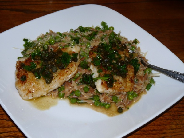 Pan Seared Cod with Lemon Caper Sauce
