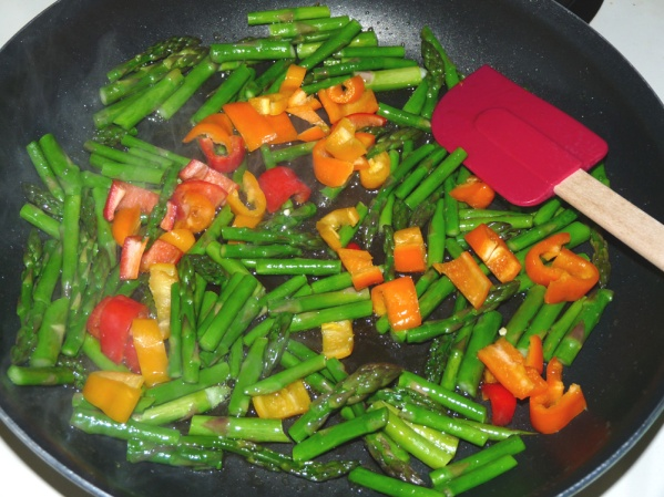 Add peppers and sauté a few more minutes