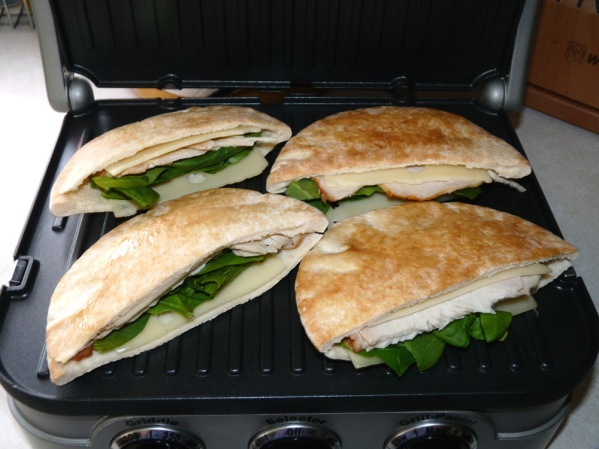 Place on preheated Panini griddle