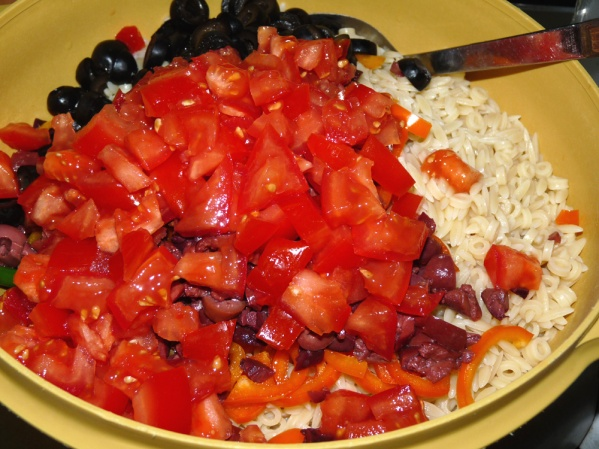 Add tomatoes to the salad